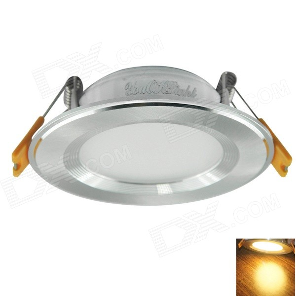 YouOkLight 3W 220lm 3000K 3-LED Warm White Light Ceiling Lamp w/ LED Driver - Silver (AC 100~240V)