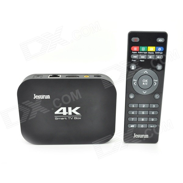 Jesurun A400-S802 Quad-Core 4K Android 4.4.2 Google TV Player w/ 2GB RAM, 8GB ROM, XBMC, EU Plug
