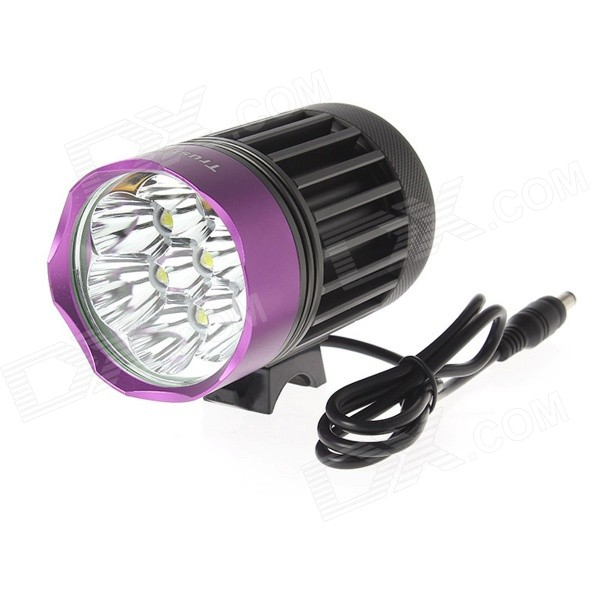 TrustFire TR-D014 7-LED 4-Mode 3000lm Cool White Bike Light - Grey + Purple (6 x 18650) trustfire tr d015 led 580lm 3 mode white bicycle light grey purple 2 x 18650