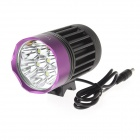 TrustFire TR-D014 7-LED 4-Mode 3000lm Cool White Bike Light - Grey + Purple (6 x 18650)