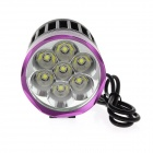 TrustFire TR-D014 7-LED 4-Mode 3000lm Cold White Bike Light - Grey + Purple (6 x 18650)