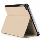 Mr.northjoe protection en cuir PU + PC Case w / Stand + mise en veille automatique pour l'IPAD MINI 1/2/3 - or