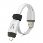 Creative 3-in-1 OTG USB Cable w/ Data Transfer / Charging Function for Phone / Tablet PC - White