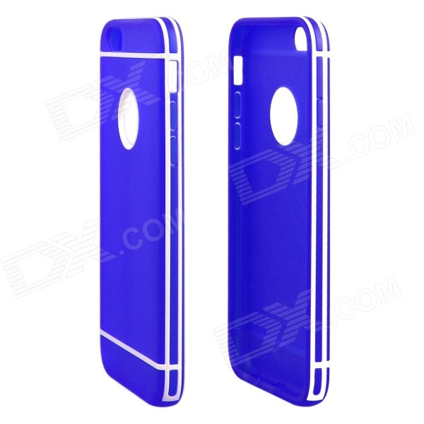 ENKAY Protective TPU + Plastic Back Case for IPHONE 6 - Blue nillkin protective matte plastic back case w screen protector for iphone 6 4 7 golden