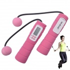 """NEJE DG0008-2 Wireless Skipping Ropes w/ 2"""" Screen Calorie Counter - Deep Pink + White (2 x AAA)"""