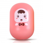 TEAMWORK 2W 65lm 6500K Cool White Cute Infant Style Light Control Night Lamp - Pink (US Plug)