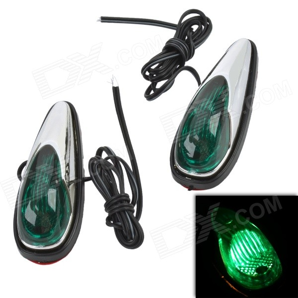 MR16 0.06W 5LM Green Light Car Clearance Lamp Side - Green (12V / 2 PCS)