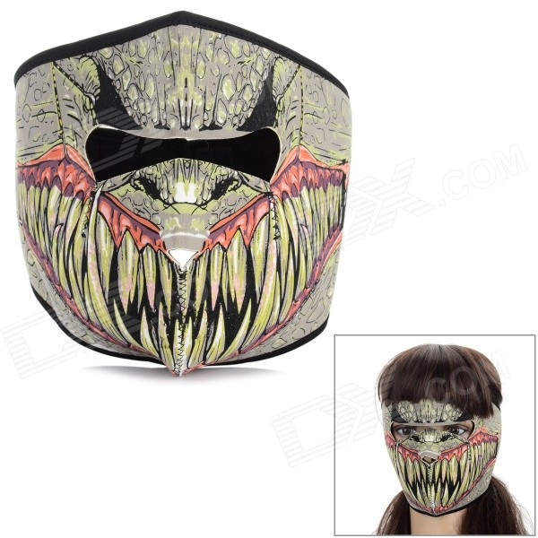 Fashion Cartoon Monster Style Four Seasons Cycling Face Mask - Black + Multi-Color
