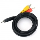 Xiaomi Male to Male Audio + Video Cable w/ 2.5mm / RCA - Black (150cm)