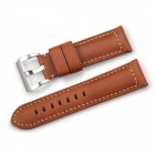 CHIMAERA Leather Watch Band Padded Strap 24mm / 22mm Steel Buckle - Brown