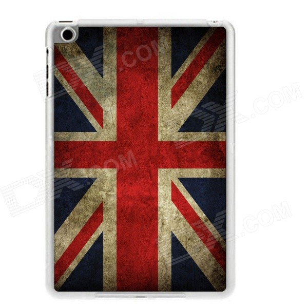 UK Flag Pattern Plastic Back Case for RETINA IPAD MINI / IPAD MINI 1 / 3 - Deep Blue + Red mooncase litchi skin золото chrome hard back чехол для cover samsung galaxy s6 edge красный