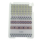 Anchor Pattern Plastic Back Case for RETINA IPAD MINI / IPAD MINI 1 / 3 - White + Deep Blue