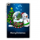 Christmas Tree + Snowball Pattern Plastic Back Case for RETINA IPAD MINI / IPAD MINI 1 / 3 - Blue
