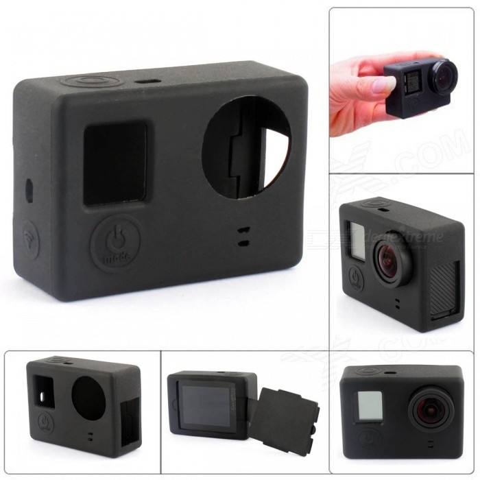 Fat Cat CS-4 Protective Silicone Shell Case for GoPro Hero 4 / 3+ / 3 - Black