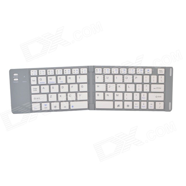 Universal Foldable Wireless Bluetooth V3.0 66 Keys Keyboard w/ Micro USB - Silver laptop keyboard for acer silver without frame bulgaria bu v 121646ck2 bg aezqs100110