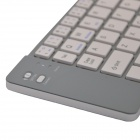 Universal Foldable Wireless Bluetooth V3.0 66 Keys Keyboard w/ Micro USB - Silver