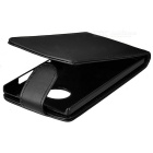 Protection flip-Open Up-Down Case PC + PU pour Nokia Lumia 830 - Noir