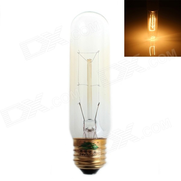Zweihnder E27 40W 350LM Incandescent Tungsten Filament Warm White Light Candle Lamp (AC 220-240V)