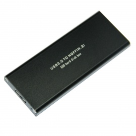 WBTUO High Speed USB 3.0 to NGFF (M.2) SSD Hard Disk Box Enclosure  - Black