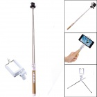 Dispha G-499 Bluetooth Smart Retractable Selfie Monopod for GoPro / IPHONE + More - Gold + Silver
