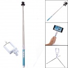 Dispha G-499 Bluetooth Smart Retractable Selfie Monopod for GoPro / IPHONE + More - Blue + Silver