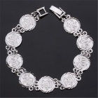 U7 H5107B Muslim Allah Religious Style Platinum-plated Bracelet - Silver