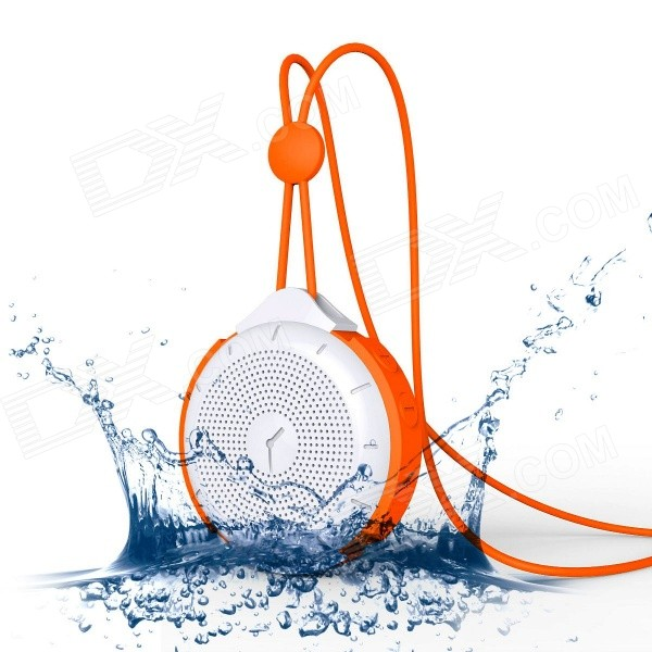 MOCREO Tictac Waterproof Portable Wireless Bluetooth Speaker w/ Hands-free / 3.5mm - Orange + White mymei best price new portable 3 5mm pillow speaker for mp3 mp4 cd ipod phone white
