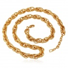 U7 N5187-22 Cool Classic Chunky Gold-plated Copper Twisted Link Chain Necklace - Golden