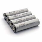 Soshine 3000mAh ICR18650 Li-ion Battery ânodo de protecção w / Case PVC transparente - Grey (4 PCS)