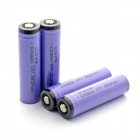 Soshine 2800mAh ICR18650 Li-ion Anode Protection Battery w/ Transparent PVC Case - Purple (4 PCS)