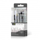Fonemax série Métal 3.5mm Jack Wired écouteurs In-Ear w / Mic / Controller - Gray (120cm)