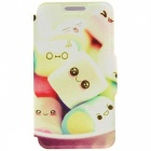 Kinston Glass Dog Animal Pattern PU Leather Full Body Case w/ Stand for IPHONE 6 Plus