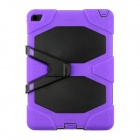 "Silicone Shock-proof Fall-proof Dust-proof Case w/ Stand for IPAD AIR 2 9.7"" - Purple + Black"