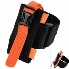 Oumily Outdoor Sports Gym Arm Band for Cell Phone - Black + Orange