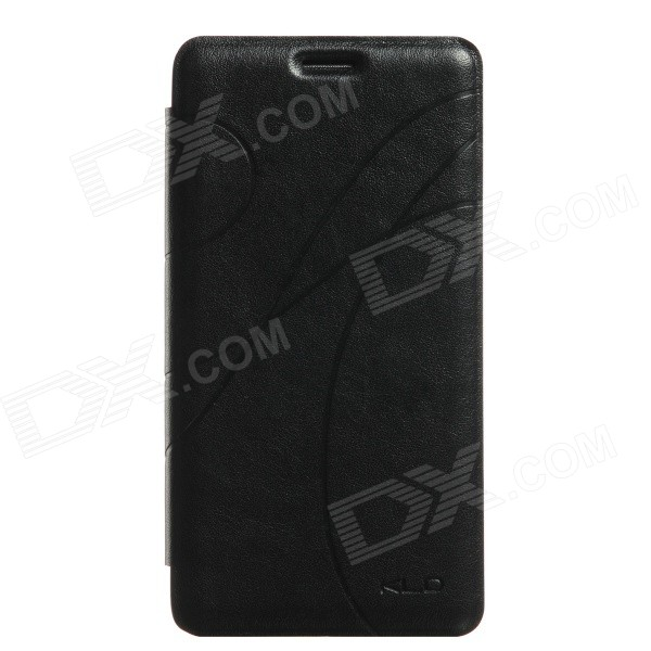 KALAIDENG Protective PU Leather Case Cover w/ Stand for Samsung Galaxy Note 4 - Black