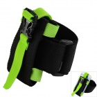 Oumily Outdoor Sports Gym Arm Band for Cell Phone - Black + Green