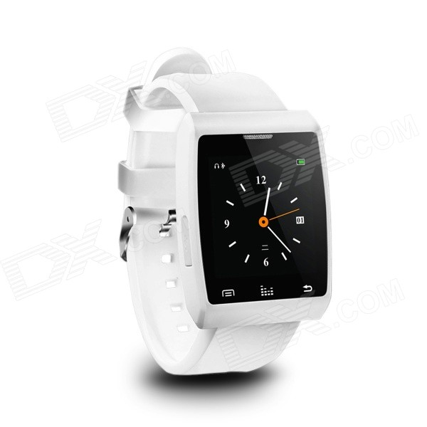 Gumbo GB-X5 1.4 Smart Bluetooth Watch w/ Shutter Remote for Android / IOS Smartphones - White x71a coin bluetooth v3 0 remote control self timer camera shutter for ios android phone gold