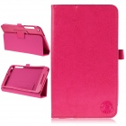 Hat-Prince Simple Style Protective Case w/ Stand for Asus Fonepad 8 / FE380CG - Deep Pink