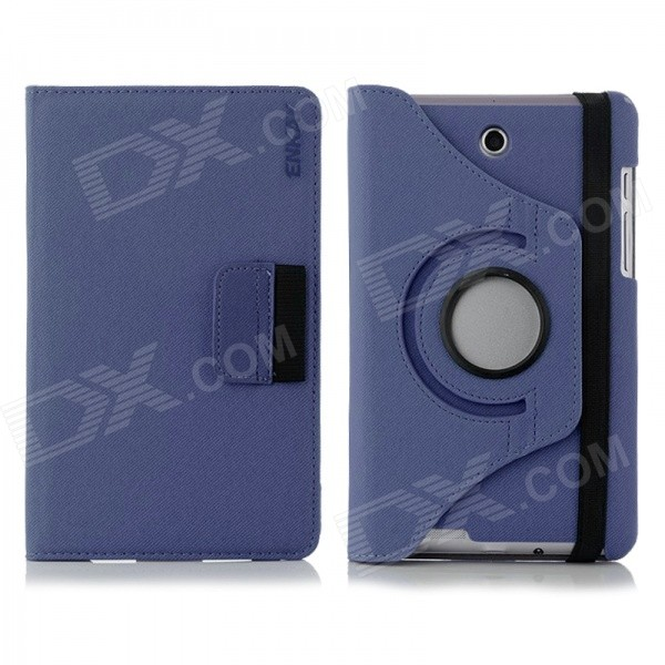 ENKAY 360' Rotation Protective Flip Open Case w/ Card Slots for Asus Fonepad 7 / ME372CG - Dark Blue фотообои бумажные komar miami 8 967