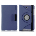 ENKAY 360' Rotation Protective Flip Open Case w/ Card Slots for Asus Fonepad 7 / ME372CG - Dark Blue
