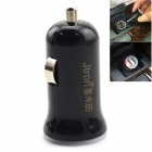 Jtron Universal Dual USB Car Cigarette Lighter Charger for Cellphone / Tablet PC + More - Black