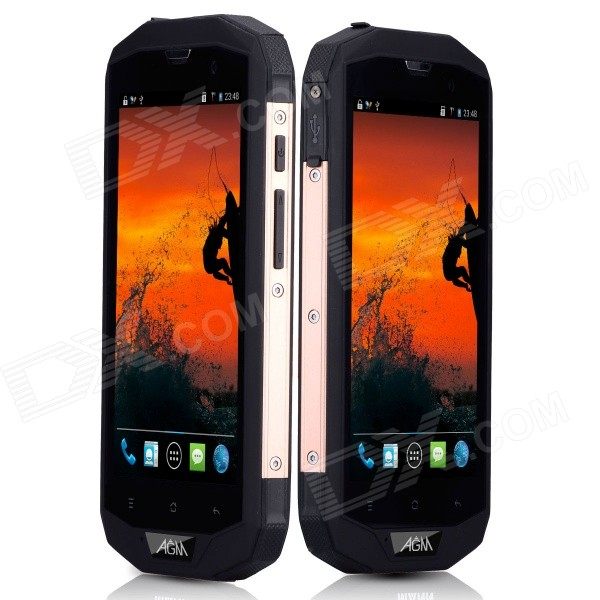 AGM STONE 5S Waterproof Android 4.4 Quad Core 4G Bar Phone w/ 5.0 HD, 8GB ROM, WiFi, GPS, BT