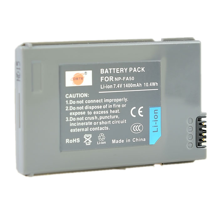 DSTE NP-FA50 7.4V 1400mAh NP-FA50 Battery for SONY DCR-DVD7E / DVW-700 / PC55/W + More - Grey аккумулятор для фотокамеры neutral oem 2 4500mah np fv100 fv100 sony np fv30 np fv50 np fv70 sx63e sx83e sony np fv100