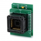 PLCC44 to DIP40 IC Programmer Socket Adapter - Green + Black
