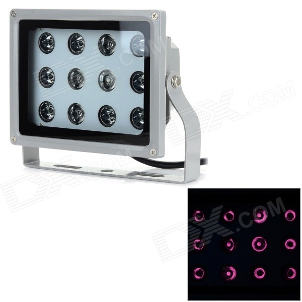 24W 850nm 12-LED IR Security Monitoring Light for CCTV Camera - Grey (AU Plug / AC 220V) pro svet light mini par led 312 ir