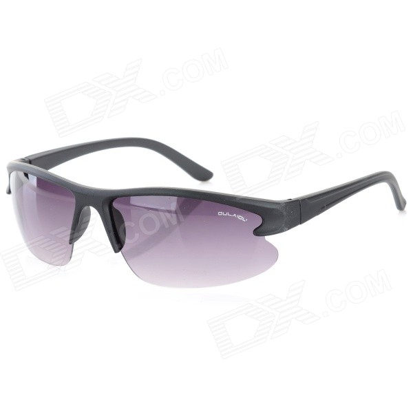 OULAIOU Men's Outdoor Cycling Windproof Insect-proofing PC Lens UV400 Sunglasses - Black + Purple frico accs30wl v