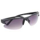 OULAIOU Men's Outdoor Cycling Windproof Insect-proofing PC Lens UV400 Sunglasses - Black + Purple