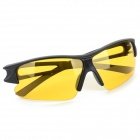 OULAIOU Men's Outdoor Cycling Plastic Frame PC Lens UV400 Sunglasses - Black + Yellow