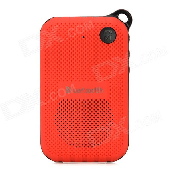 B03 Portable Outdoor Bluetooth Speaker w/ FM / Hands-Free / Microphone / TF - Red + Black