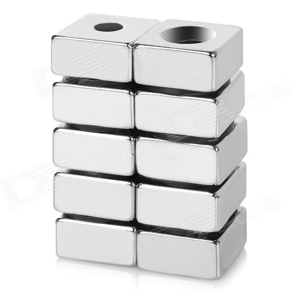 F20x20x10-5mm Square NdFeB N35 Magnet - Silver (10PCS) bore size 80mm 10mm stroke double action with magnet sda series pneumatic cylinder